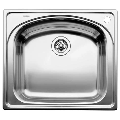 kitchen sinks single bowl stainless steel blanco single bowl topmount stainless steel kitchen sink 9591