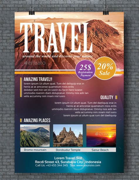 travel flyer templates psd word ai vector eps