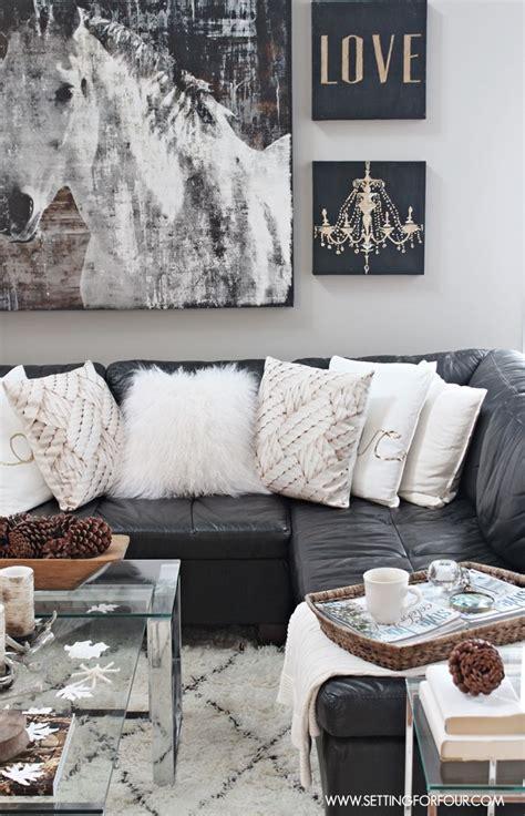 Rustic Glam Living Room + New Rug  Design, Inredning Och