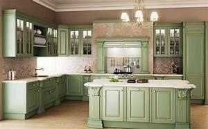 beautiful sage green kitchen pictures photos and images With kitchen colors with white cabinets with vintage retro wall art