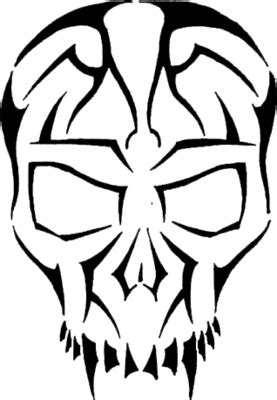 PNG Tribal Skull Tattoos Clipart #30739 - Free Icons and