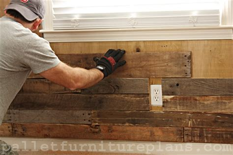 pallet plank wall a great idea of pallet wood wall