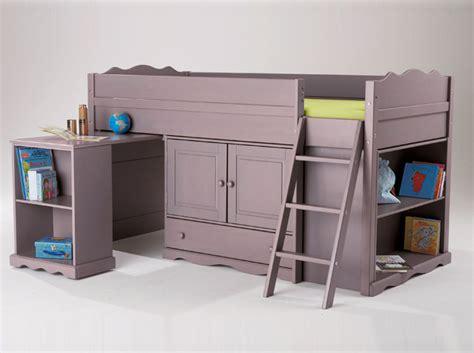 lit à étage avec bureau great un lit mezzanine pour enfant ans et plus image with
