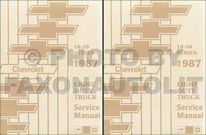 1987 Chevy Shop Manual K5 Blazer Suburban Van Sportvan Beauville Repair Service
