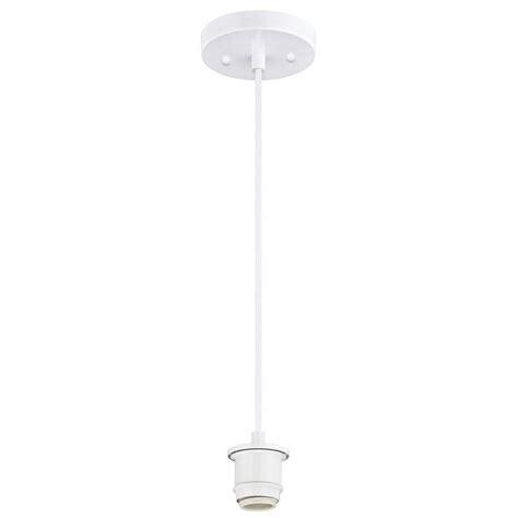 westinghouse 1 light white adjustable mini pendant 6102500