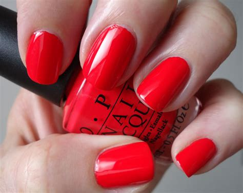 Opi Red Orange Nail Polish