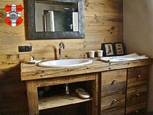 agencement chambre chalet les gets haute savoie With vieux meuble salle de bain
