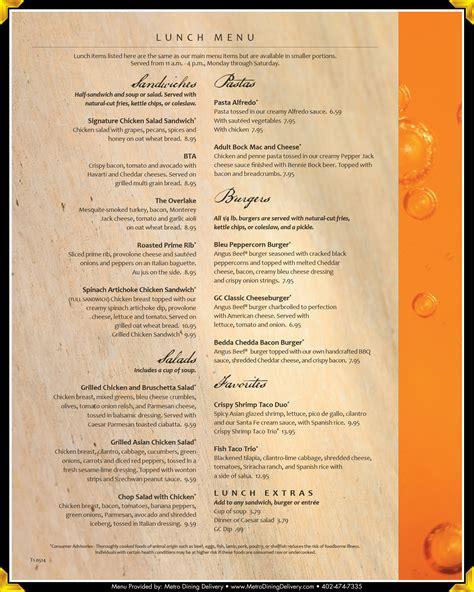 granite city food brewery menu 402 466 1900