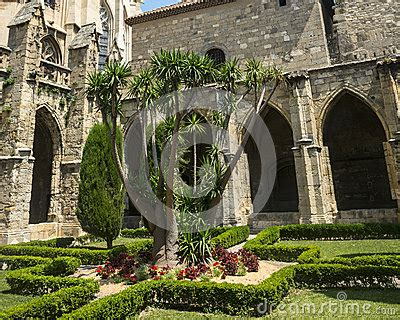 Narbonne, Cathedral Cloister Royalty Free Stock