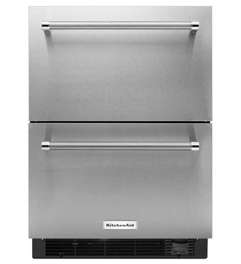 "KitchenAid®24"" Stainless Steel Refrigerator/Freezer Drawer (KUDF204ESB Stainless Steel)   KitchenAid"