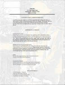 construction trade resume exles skilled labor trades resume occupational exles sles free edit with word