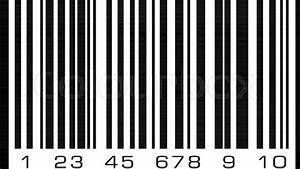 Abstract Bar Code  Barcode Vector Icon Illustration
