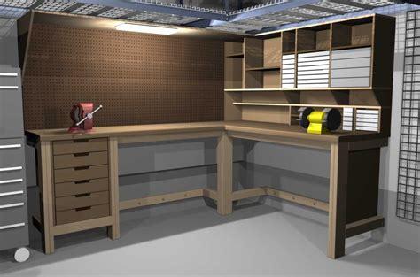 garage workbench  pinterest workbench plans workbenches  woodworking bench