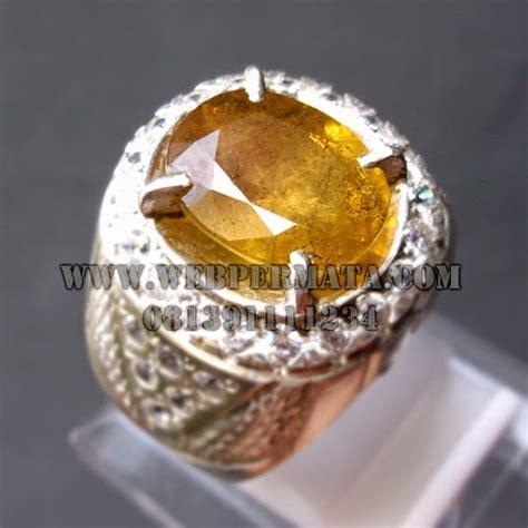 cincin batu mulia yellow savir web batu permata