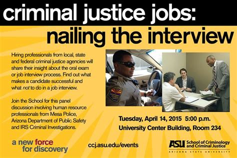 criminal justice jobs nailing  interview school