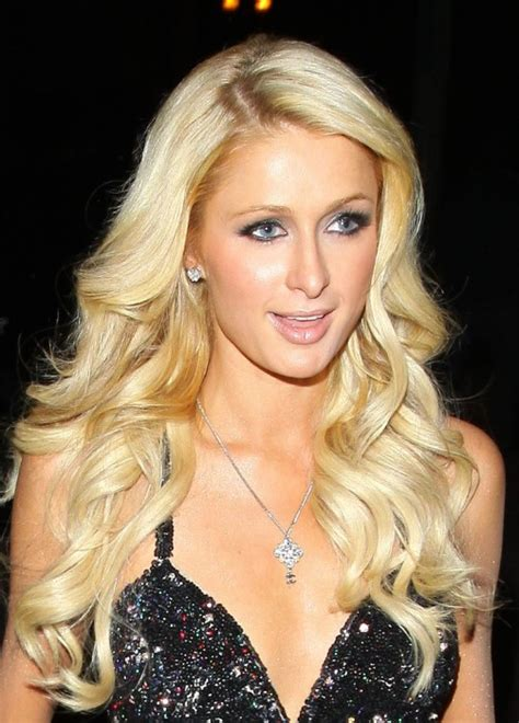 paris hilton layered long blonde hairstyle  curls