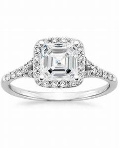 Asscher cut diamond engagement rings martha stewart weddings for Asscher wedding ring