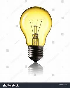 Light Bulb Isolated On White Background Stock Photo ...