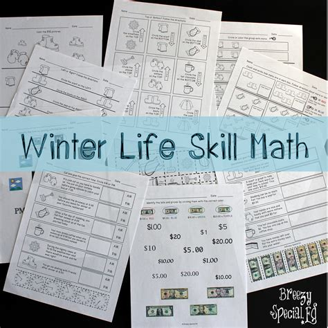 printables special education math worksheets