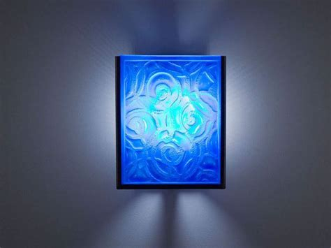blue glass sconce whirlpool blue fused glass sconce artisan crafted lighting