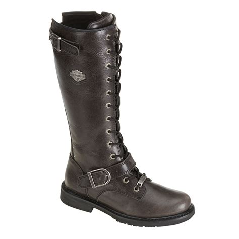 laced motorcycle boots harley davidson women 39 s jill 13 quot lace up motorcycle boots