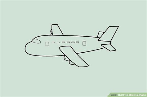 ways  draw  plane wikihow