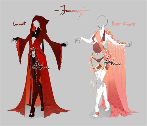 Outfit design - Birthstones January - open by LotusLumino on DeviantArt | ReferenceDrawing ...