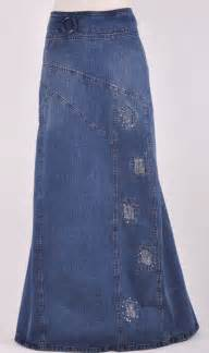 Long Denim Jean Skirts