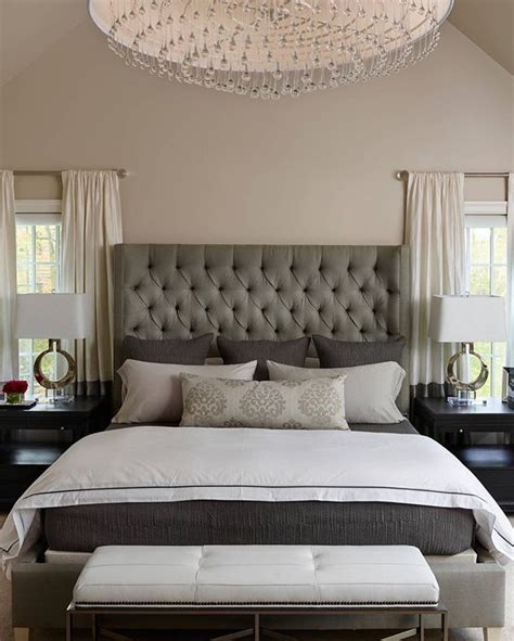 Bedroom Decorating Ideas Upholstered Bed by Best 25 Gray Headboard Ideas On Gray
