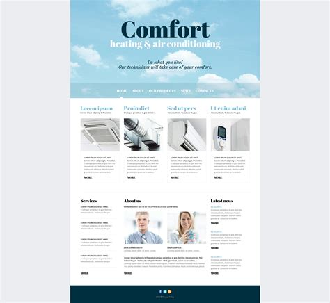 air joomlsa template air conditioning responsive joomla template 47433