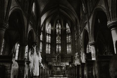 photo church horror photoshop scary  image