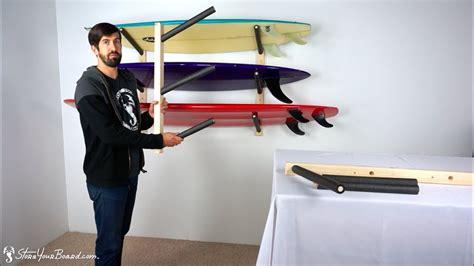 surfboard wall rack triple wood surf rack