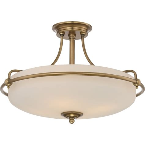 elstead lighting quoizel griffin 4 light semi flush