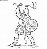 Knight Crusader Coloring Knights Boys Pages Warriors Mace Warrior Duel sketch template
