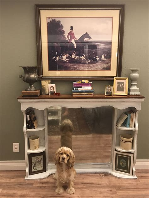turn tv into fireplace take an dresser mirror hutch and turn it into a faux