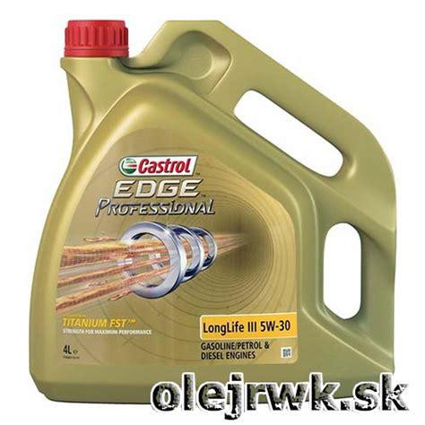 castrol edge professional longlife iii 5w 30 osobn 233 automobily castrol edge professional longlife iii 5w 30 4l rwk unit e shop olejrwk sk