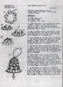 Beaded Bell Pattern For Bead World  1975