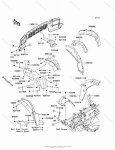 Kawasaki Side By Side 2009 Oem Parts Diagram For Front