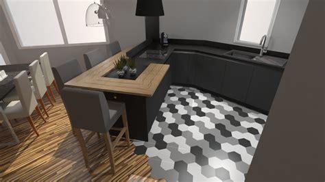 cuisine gris mat cuisine moderne gris anthracite mat et bois massif