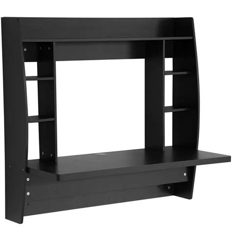 black wall mounted desk wall mounted desk with storage black in desks and hutches