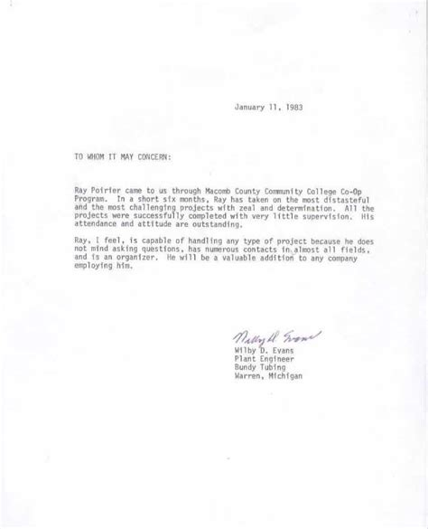 job recommendation letter  manager reference