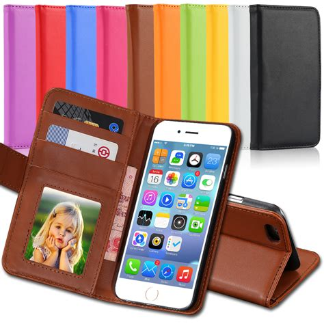 flip a photo on iphone 4s 5s luxury pu leather photo frame flip cover for