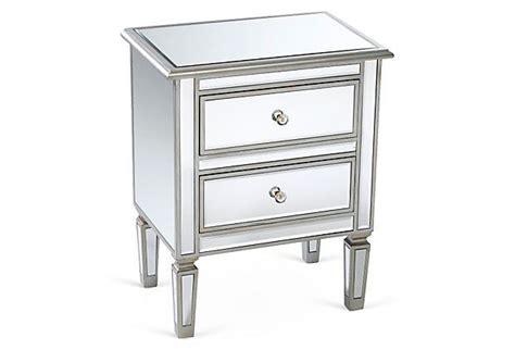 Damon 2-drawer Nightstand, Mirrored