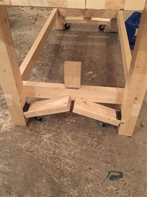 workbench wheels ideas  pinterest rolling