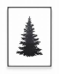 Tannenbaum Schwarz Weiß : weihnachtsposter tannenbaum silhouette printcandy ~ Orissabook.com Haus und Dekorationen