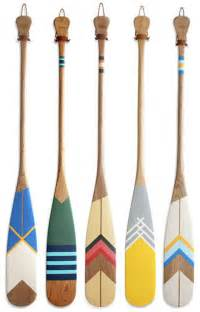 painted wooden canoe paddles idea for painting maybe with pendelton blanket stripes