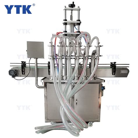 automatic stainless steel  heads liquid filling machine filler