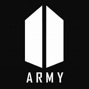 """BTS ARMY White Logo"" Art Prints by Kissa-Aura Redbubble"