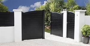 Lapeyre Portail Bois : portail pvc noir portail alu coulissant 5m expression maison ~ Premium-room.com Idées de Décoration