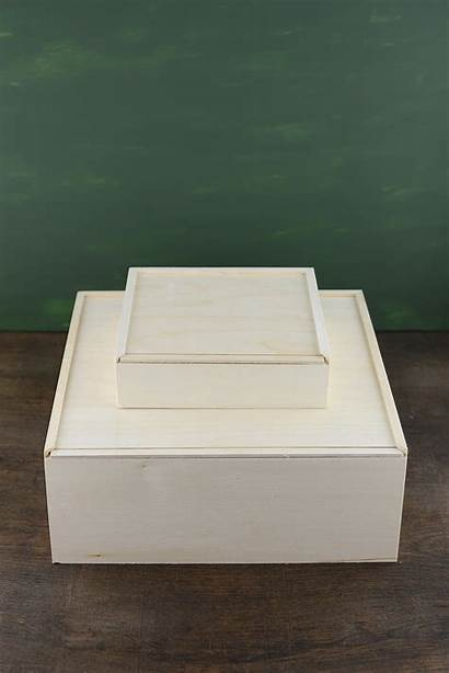 Lid Box Sliding Wood Boxes